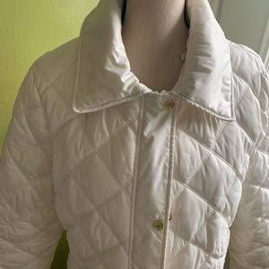 Liz Claiborne off-white coat large